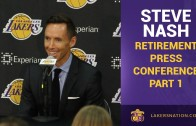 Steve Nash retirement press conference (Part 1)