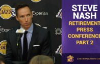 Steve Nash retirement press conference (Part 2)
