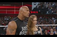 The Rock & Ronda Rousey full segment with Triple H & Stephanie McMahon