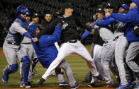 Bench clearing brawl in White Sox & Royals game