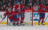 Canadiens' Andrei Markov scores on own net