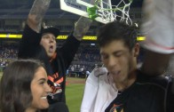 Dee Gordon dunks on Christian Yelich in post-game interview