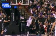 Derrick Williams throws down athletic put back slam