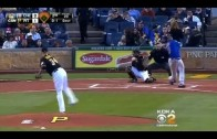 Fan hit in head by foul ball at PNC Park during Cubs vs. Pirates