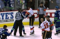 Flames & Canucks brawl to end Game 2