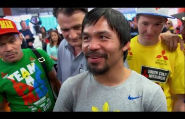 Floyd Mayweather & Manny Pacquiao analyze Shaq & Charles fight