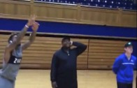 Odell Beckham Jr. throws down a windmill dunk at Cameron Indoor Stadium