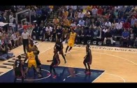 Paul George returns to action, hits his first shot