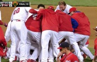 Phillies rookie Herrera hits a walk-off double in the 10th