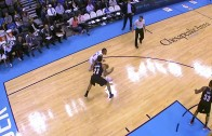 Russell Westbrook hits a Dirk jumper & pays homage