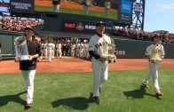 San Francisco Giants walk in to Opening Day with their 3 World Series trophies