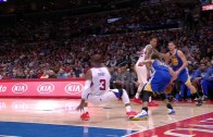 Steph Curry drops Chris Paul with behind the back dribble