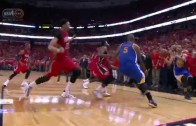 Steph Curry hits unbelievable 3-pointer to force OT