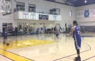 Stephen Curry hits 77 three pointers in a row & 94 of 100