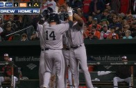 Stephen Drew smacks a pinch hit grand slam to put Yankees up