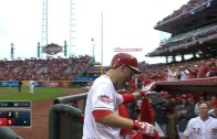 Todd Frazier belts three run homer to give the Reds the win