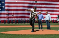 Tom Brady throws out the first pitch for Red Sox opener