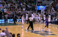 Trey Burke nails the 55 foot buzzer beater for the Jazz
