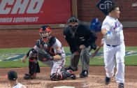 Bartolo Colon misses ball & hits helmet on strikeout