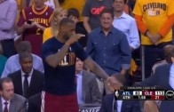 Coach Blatt leaves LeBron James hanging on a high five