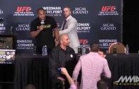 Daniel Cormier & Ryan Bader almost fight at UFC 187 press conference