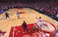 Derrick Rose banks in the game winning 3-ball for the Bulls