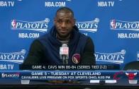 LeBron James overruled Cavs head coach David Blatt on final play