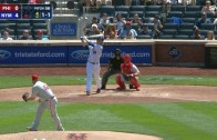 Mets rookie pitcher Noah Syndergaard belts first big league home run