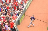Nolan Arenado flips into stands for amazing catch