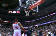 Paul Millsap with a sweet crossover & reverse layup finish