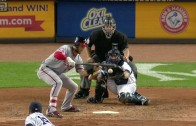 Bryce Harper bunts with 2 strikes & strikes out