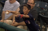 Classic: Kid makes a foul ball grab, engages Miggy & Miguel Cabrera makes a fan for life