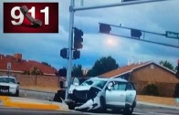 Jon Jones hit and run 911 call and scene Police camera footage