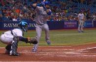 Jose Bautista launches a homer at Tropicana Field