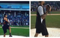 Odell Beckham Jr. throws perfect fastball strike at charity softball game