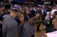 Steph Curry celebrates with family & daughter Riley