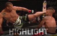 Thiago Santos uses brutal kick to take down Steve Bosse
