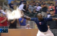 Torii Hunter gets tossed arguing strikes & throws his jersey in disgust