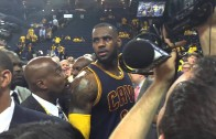 """Warriors fan calls LeBron James a """"p*ssy a*s bi*ch"""" to his face"""