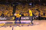 Warriors fan drills half court shot & wins a BMW