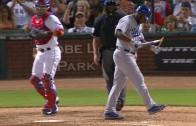 Yasiel Puig goes Bo Jackson & smashes his bat after striking out