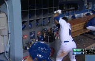 Andre Ethier shows frustration after lining out