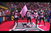 Arena football team celebrates TD by doing The Rock's People's Elbow