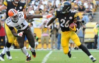 Pittsburgh Steelers RB Le'Veon Bell puts on a dunk show
