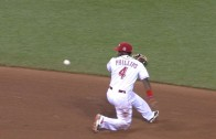 Brandon Phillips makes behind-the-back flip for the out
