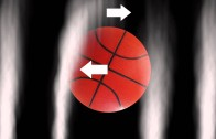 Mind Blowing: Basketball dropped from 400+ feet creating Magnus Effect
