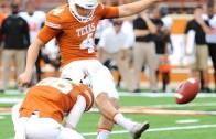 Texas Longhorns kicker Nick Rose nails a 80 yard field goal