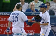 Switch Hitter Problems: Dioner Navarro wears wrong helmet to the plate
