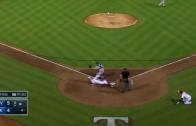 Texas Rangers outfielder Ryan Rua hits an inside-the-park homer