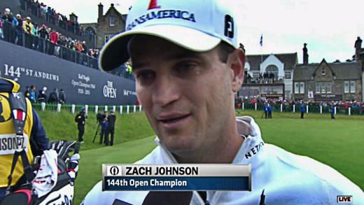 Zach Johnson emotional interview after winning the British Open